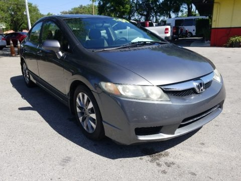 Polished Metal Metallic 2009 Honda Civic EX Sedan