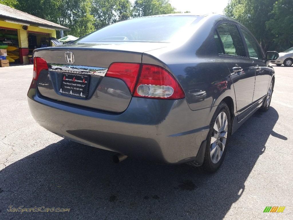 2009 Civic EX Sedan - Polished Metal Metallic / Gray photo #3