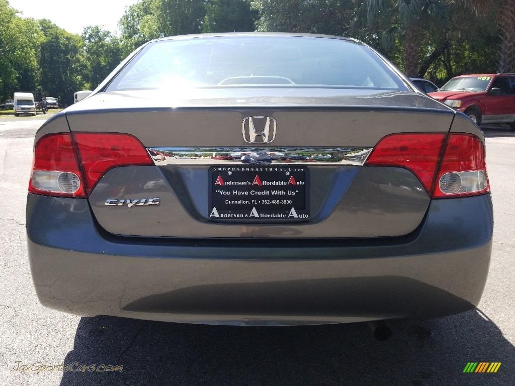 2009 Civic EX Sedan - Polished Metal Metallic / Gray photo #4