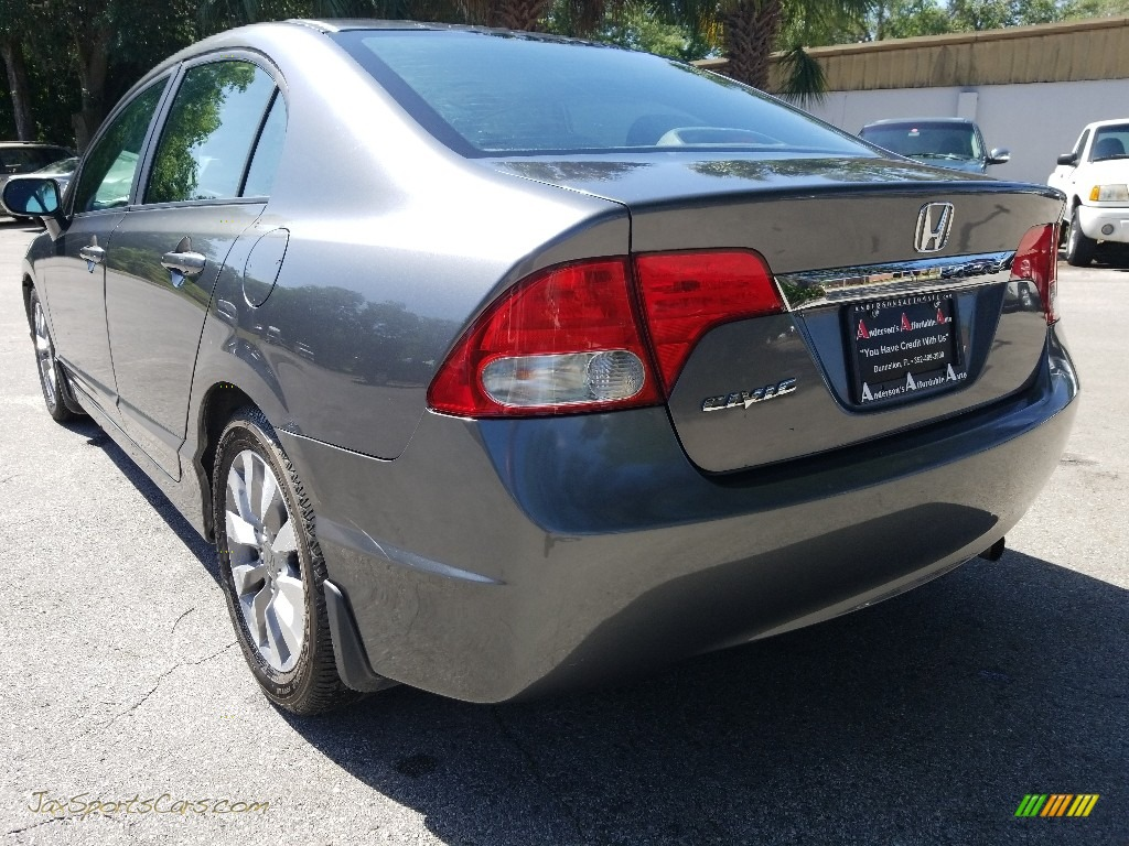 2009 Civic EX Sedan - Polished Metal Metallic / Gray photo #5