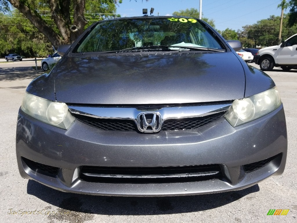 2009 Civic EX Sedan - Polished Metal Metallic / Gray photo #8