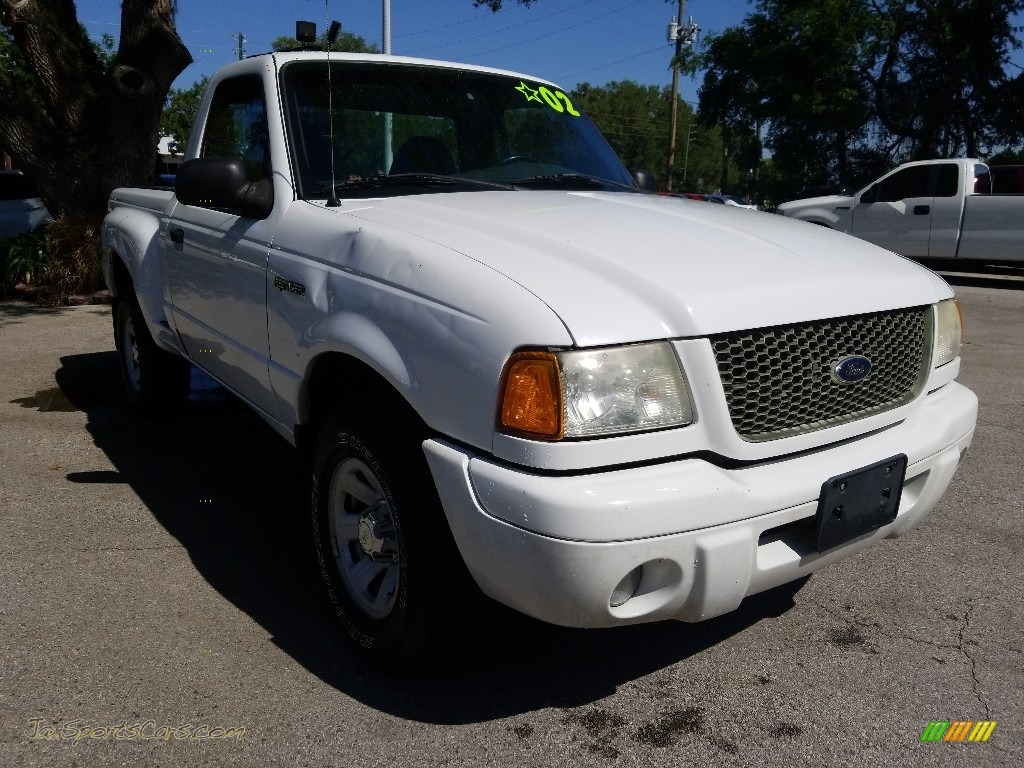 2002 Ranger Edge Regular Cab - Oxford White / Medium Prairie Tan photo #1