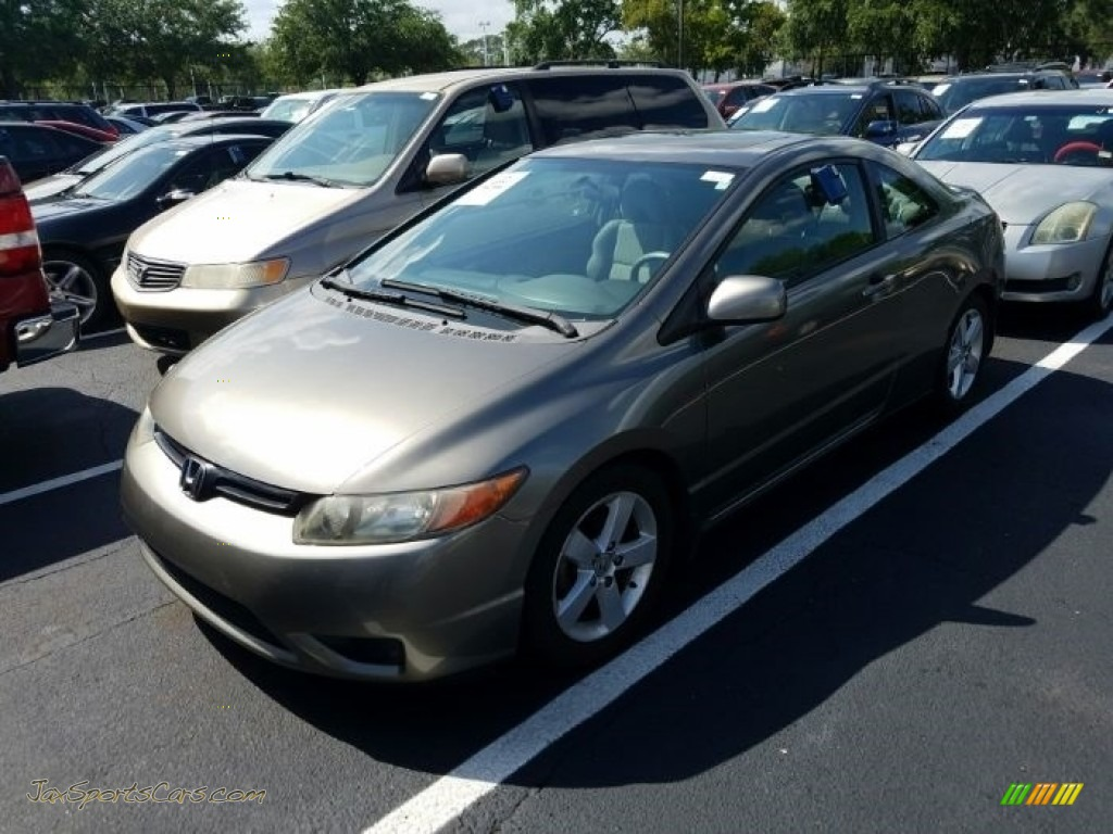 2006 Civic EX Coupe - Galaxy Gray Metallic / Ivory photo #1