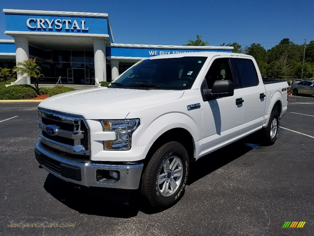 2017 F150 XLT SuperCrew 4x4 - Oxford White / Earth Gray photo #1