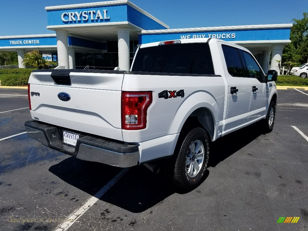 2017 F150 XLT SuperCrew 4x4 - Oxford White / Earth Gray photo #5