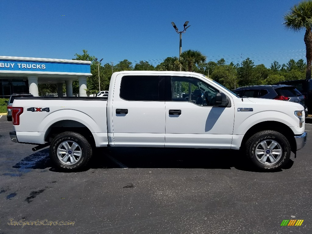 2017 F150 XLT SuperCrew 4x4 - Oxford White / Earth Gray photo #6