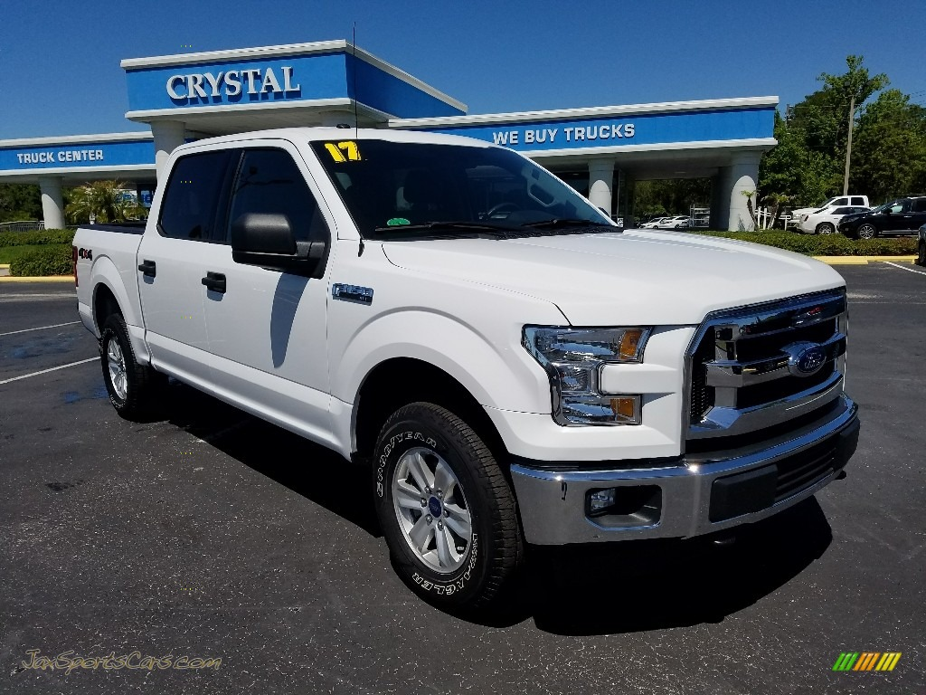 2017 F150 XLT SuperCrew 4x4 - Oxford White / Earth Gray photo #7