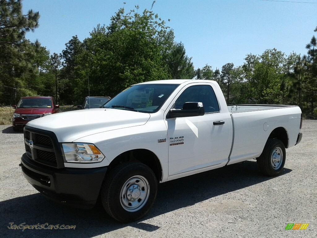 Bright White / Black/Diesel Gray Ram 2500 Tradesman Regular Cab