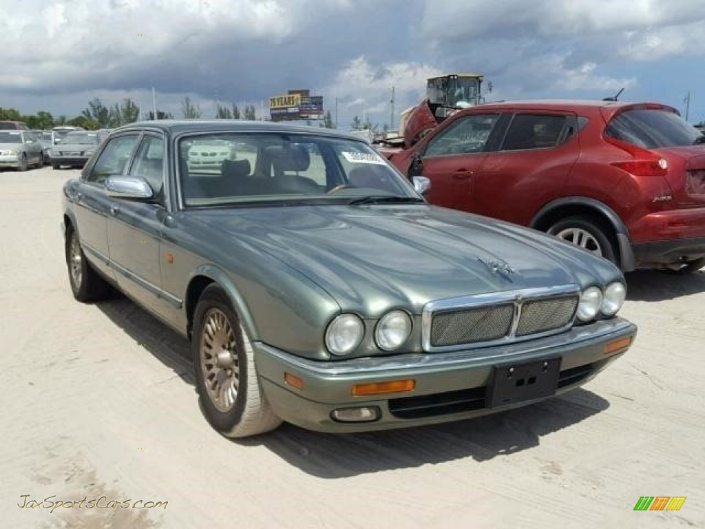 1996 XJ XJ12 - Jade Green Pearl / Oatmeal photo #1