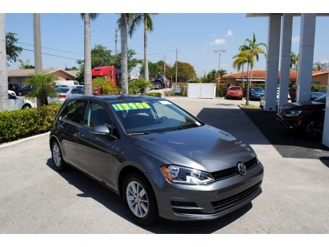 Platinum Gray Metallic 2015 Volkswagen Golf 4 Door 1.8T S