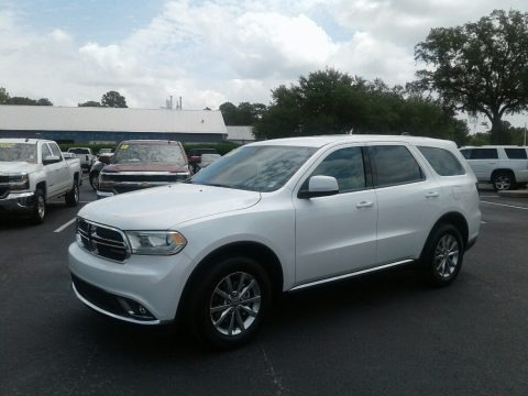 Vice White Tri-Coat Pearl 2018 Dodge Durango SXT