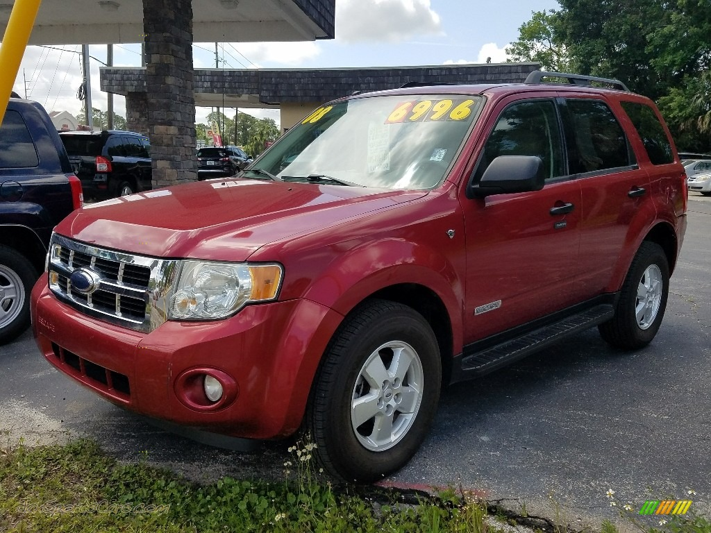 Redfire Metallic / Charcoal Ford Escape XLT V6