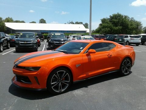Crush (Orange) 2018 Chevrolet Camaro LT Coupe Hot Wheels Package