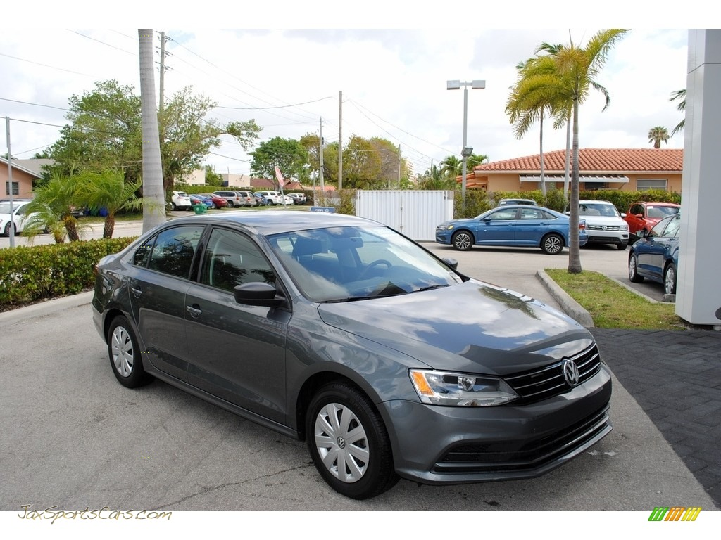 2016 Jetta S - Platinum Grey Metallic / Titan Black photo #1