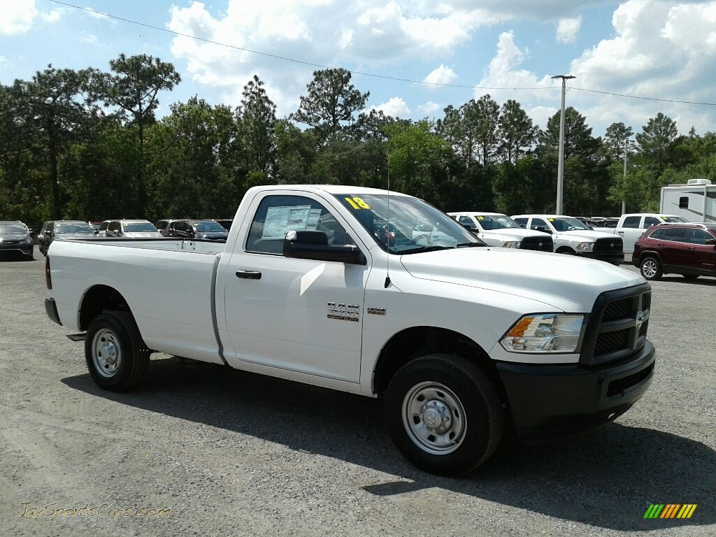 2018 2500 Tradesman Regular Cab 4x4 - Bright White / Black/Diesel Gray photo #7
