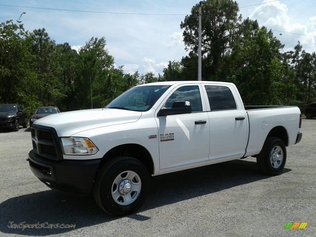 Bright White / Black/Diesel Gray Ram 3500 Tradesman Crew Cab 4x4
