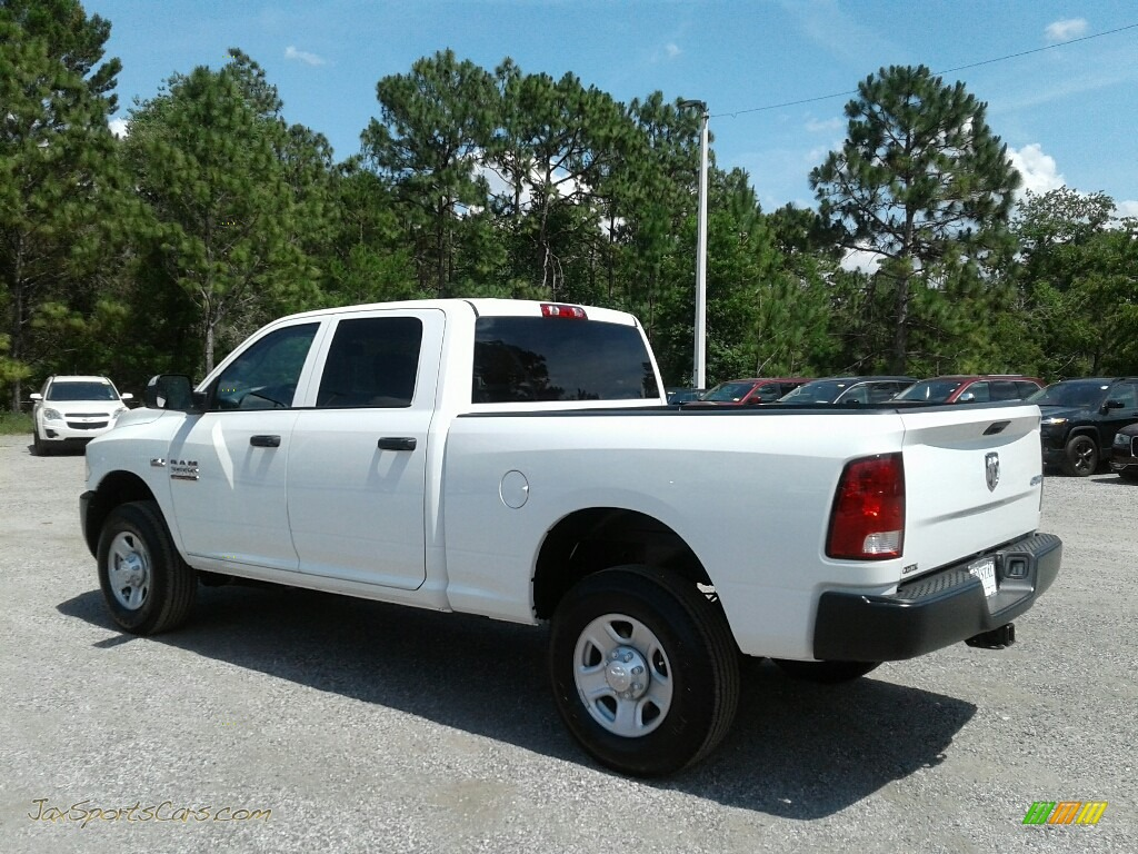 2018 3500 Tradesman Crew Cab 4x4 - Bright White / Black/Diesel Gray photo #3