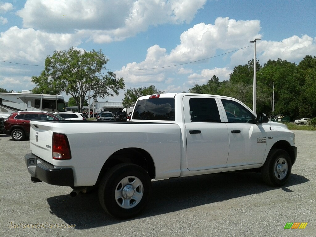 2018 3500 Tradesman Crew Cab 4x4 - Bright White / Black/Diesel Gray photo #5