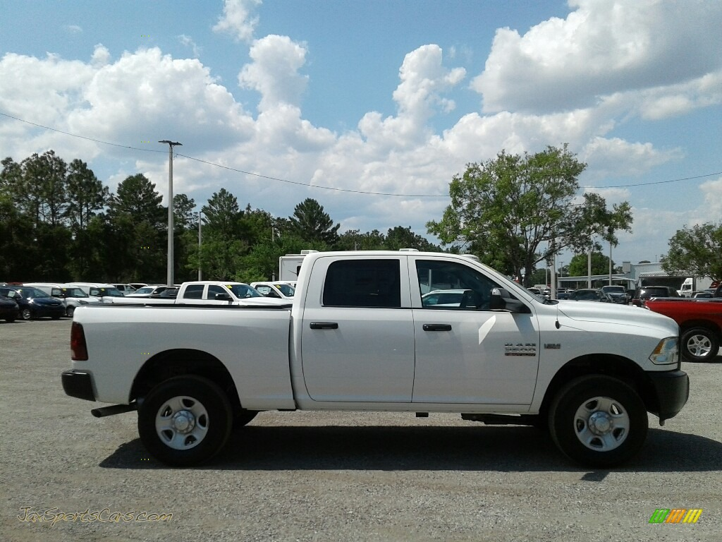 2018 3500 Tradesman Crew Cab 4x4 - Bright White / Black/Diesel Gray photo #6