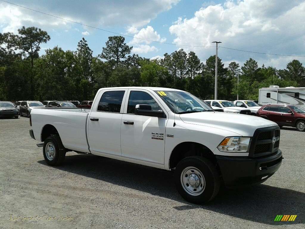 2018 2500 Tradesman Crew Cab 4x4 - Bright White / Black/Diesel Gray photo #7