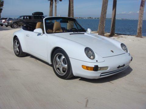 Glacier White 1997 Porsche 911 Carrera Cabriolet