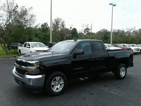 Black 2018 Chevrolet Silverado 1500 LT Double Cab
