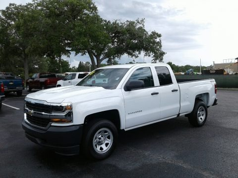 Summit White 2018 Chevrolet Silverado 1500 WT Double Cab 4x4