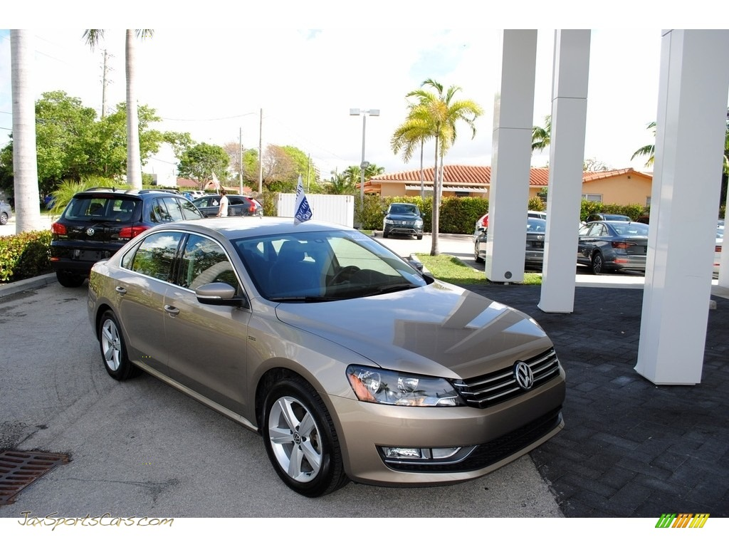 2015 Passat Wolfsburg Edition Sedan - Titanium Beige / Titan Black photo #1