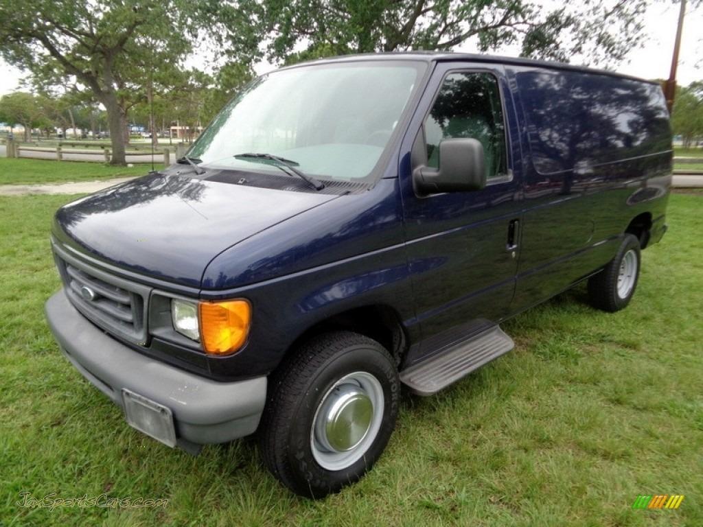 2006 E Series Van E250 Commercial - True Blue Metallic / Medium Flint Grey photo #1