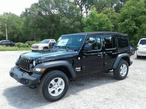 Black 2018 Jeep Wrangler Unlimited Sport 4x4