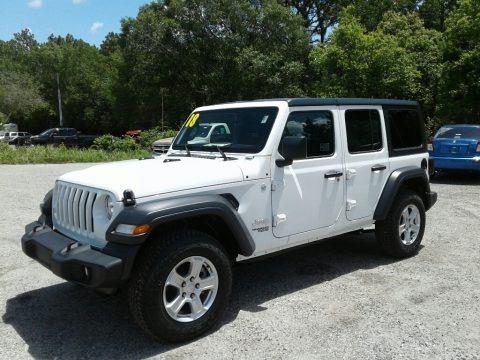 Bright White 2018 Jeep Wrangler Unlimited Sport 4x4