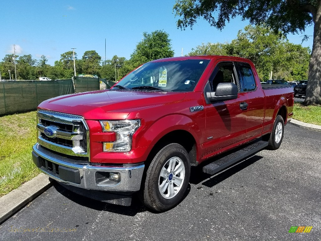 2017 F150 XLT SuperCab - Ruby Red / Earth Gray photo #1