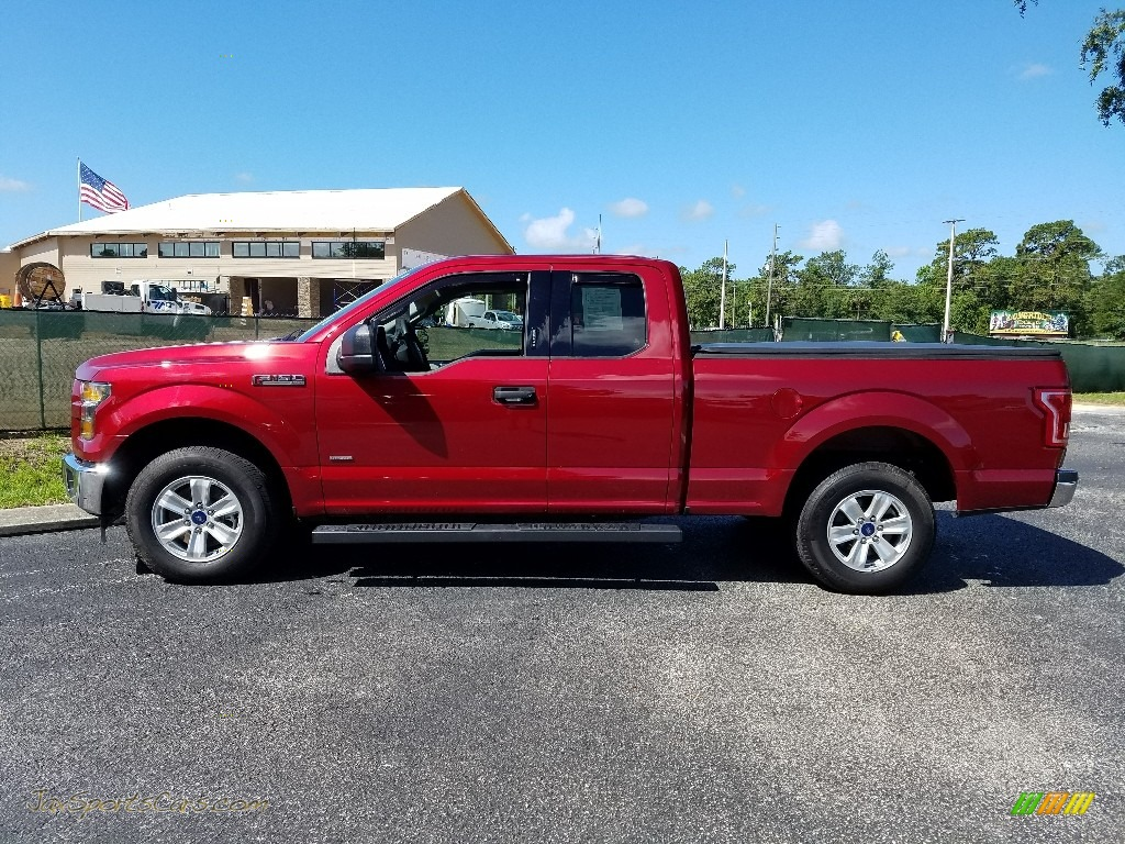 2017 F150 XLT SuperCab - Ruby Red / Earth Gray photo #2