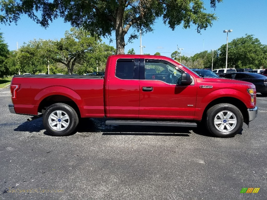 2017 F150 XLT SuperCab - Ruby Red / Earth Gray photo #6