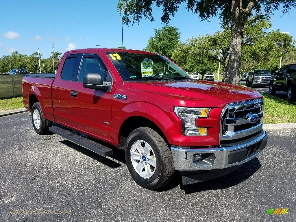 2017 F150 XLT SuperCab - Ruby Red / Earth Gray photo #7