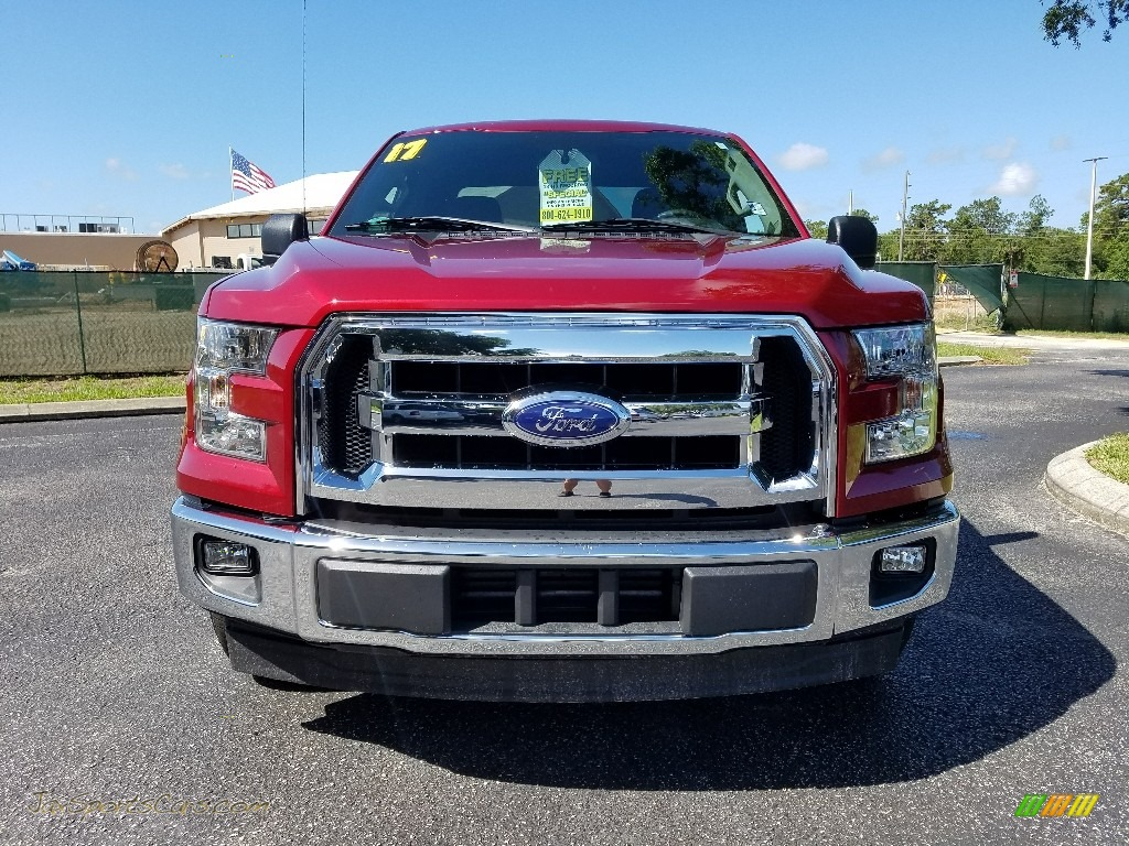 2017 F150 XLT SuperCab - Ruby Red / Earth Gray photo #8