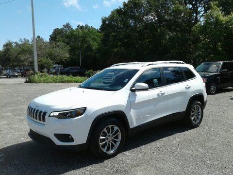 Bright White 2019 Jeep Cherokee Latitude Plus