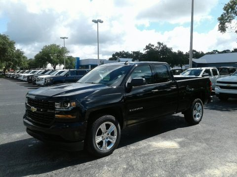 Black 2018 Chevrolet Silverado 1500 Custom Double Cab