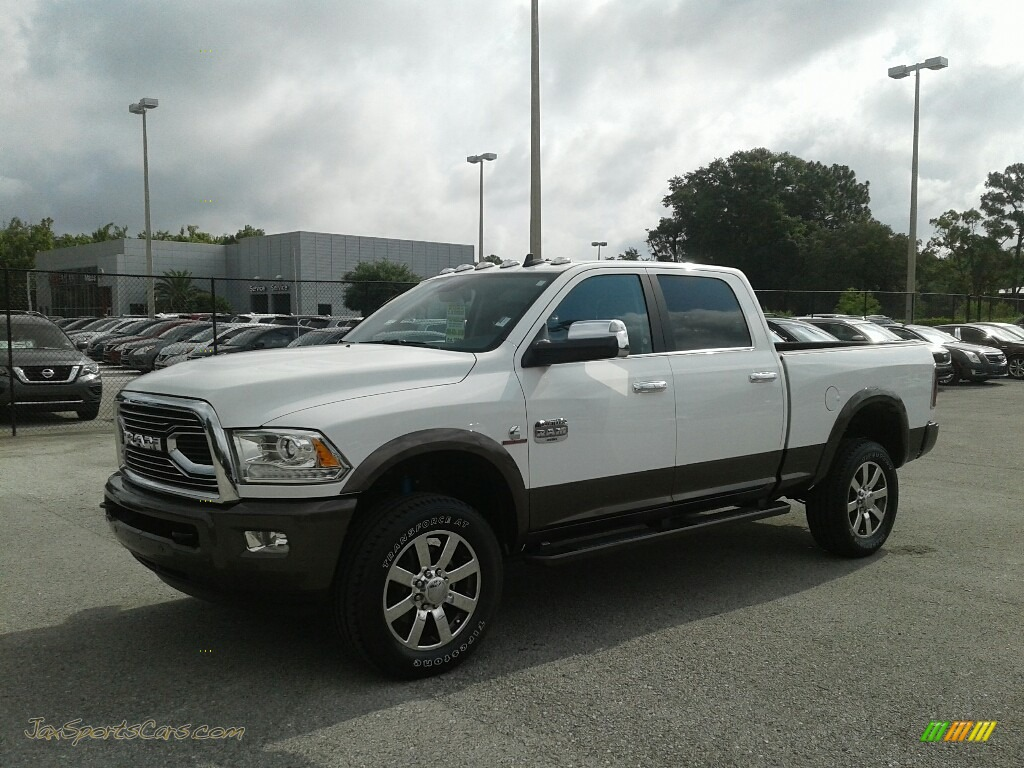 2018 2500 Laramie Longhorn Crew Cab 4x4 - Bright White / Black/Cattle Tan photo #1