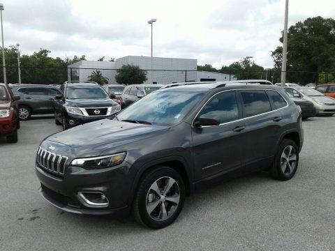 Granite Crystal Metallic 2019 Jeep Cherokee Limited