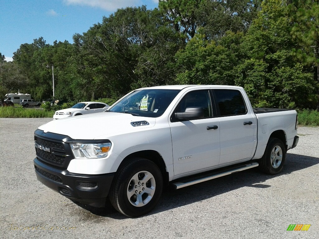 Bright White / Black Ram 1500 Tradesman Crew Cab