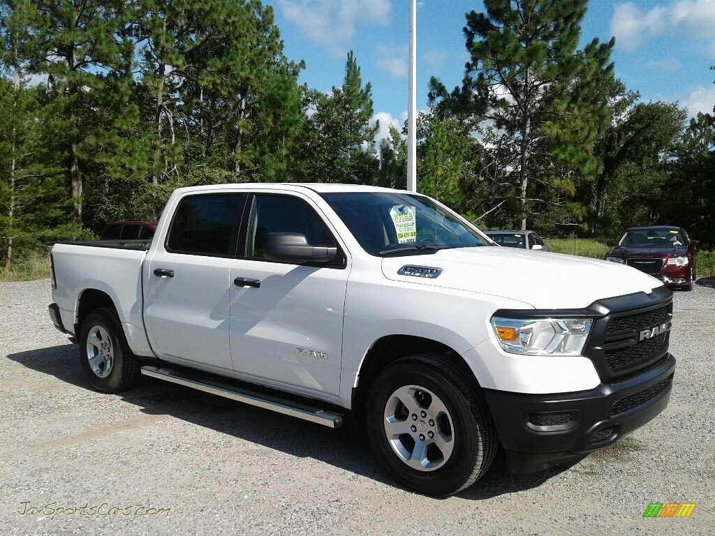 2019 1500 Tradesman Crew Cab - Bright White / Black photo #7
