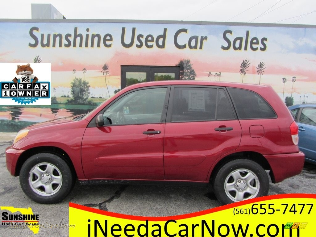 2003 RAV4  - Impulse Red / Gray photo #1