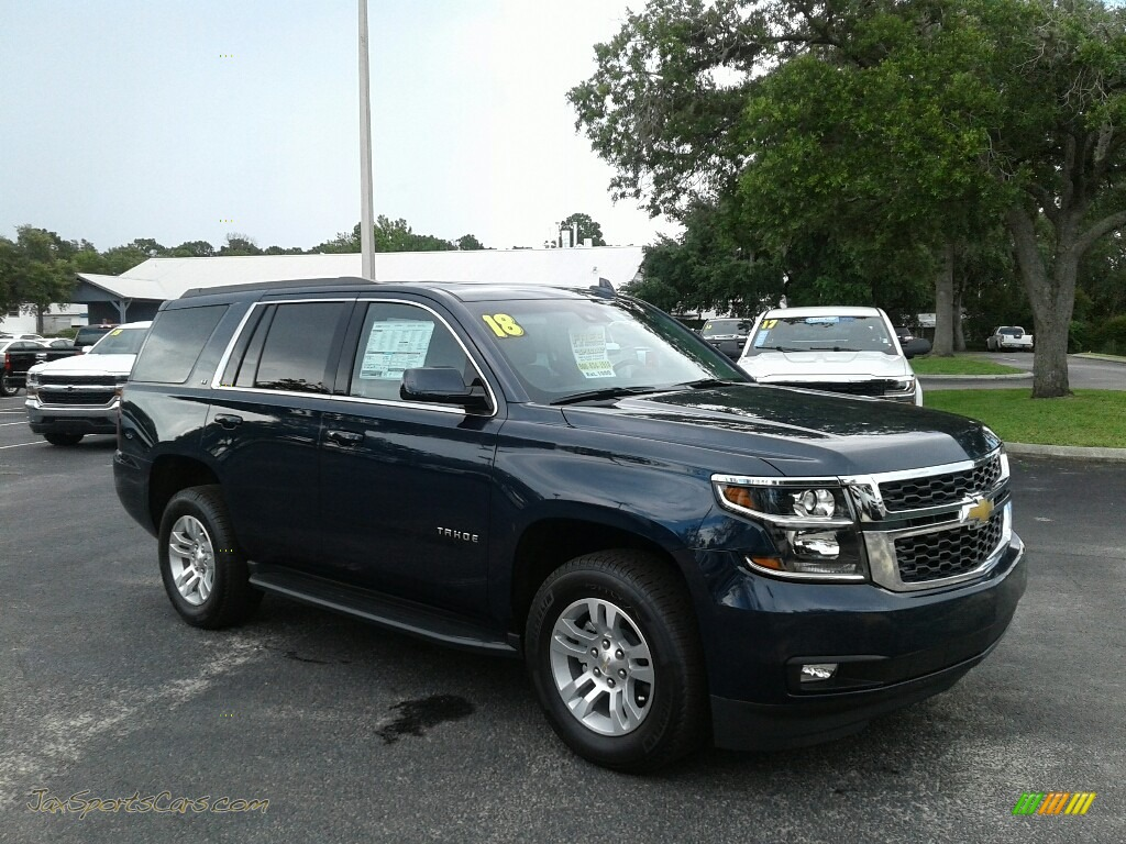 2018 Tahoe LT - Blue Velvet Metallic / Jet Black/Ash Gray photo #7