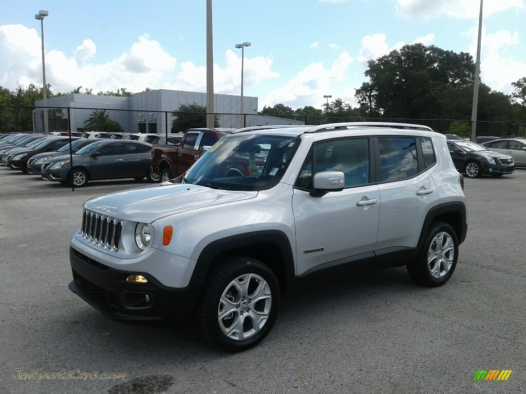 2018 Renegade Limited 4x4 - Glacier Metallic / Black/Ski Grey photo #1