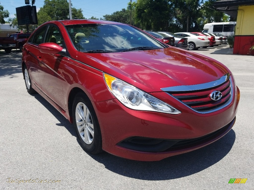 2014 Sonata GLS - Venetian Red / Camel photo #1