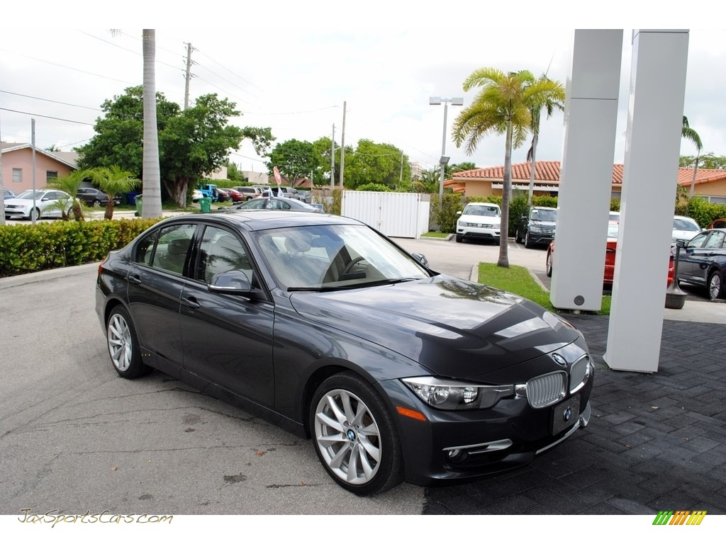 2012 3 Series 328i Sedan - Mineral Grey Metallic / Venetian Beige photo #1