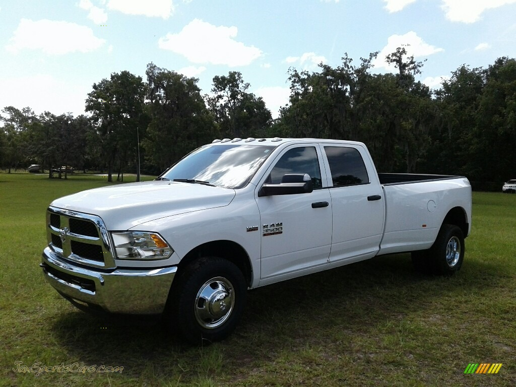 2018 3500 Tradesman Crew Cab 4x4 Dual Rear Wheel - Bright White / Black/Diesel Gray photo #1