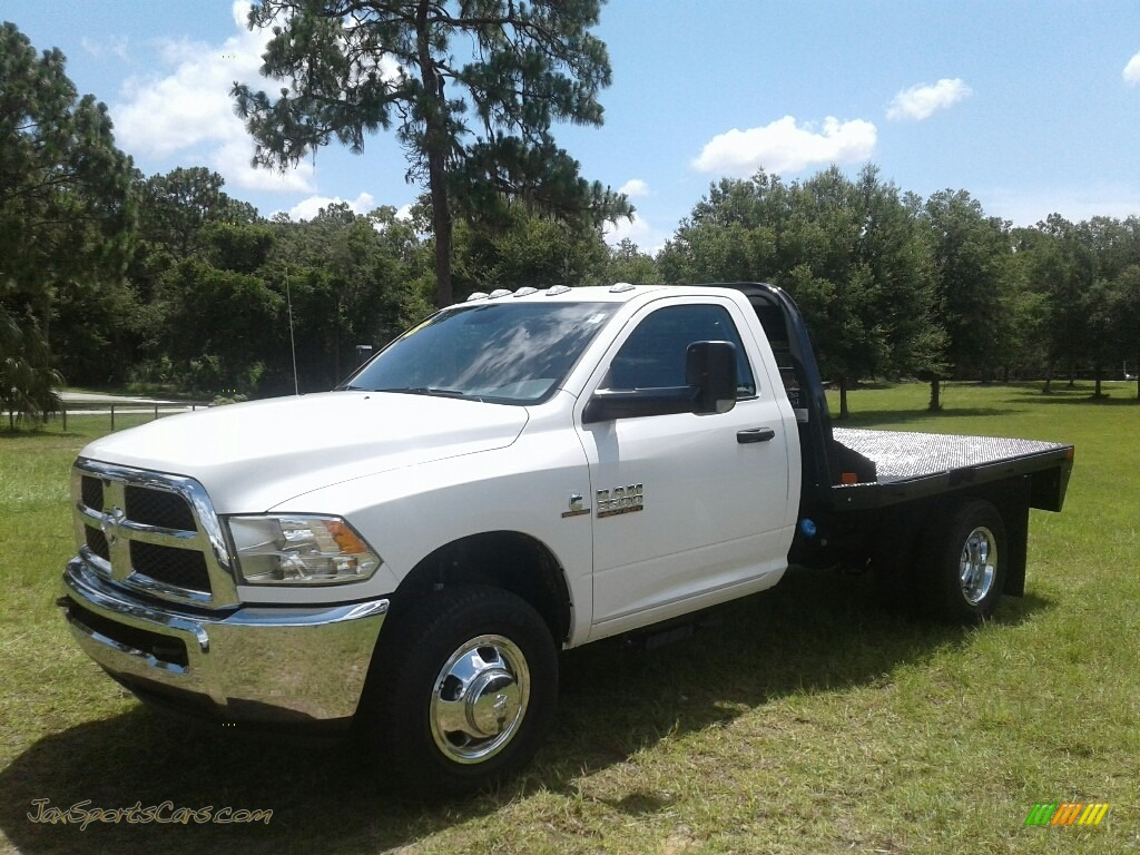 Bright White / Black/Diesel Gray Ram 3500 Tradesman Regular Cab 4x4 Chassis
