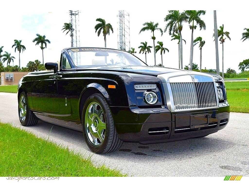 2008 Phantom Drophead Coupe  - Diamond Black / Light Creme photo #1